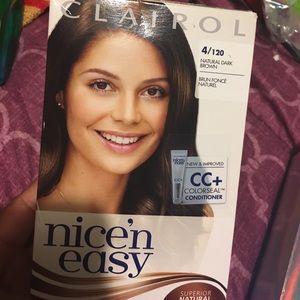Clairol nice n easy hair dye- natural dark brown